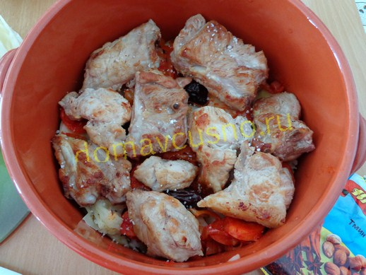 Слой жареного мяса